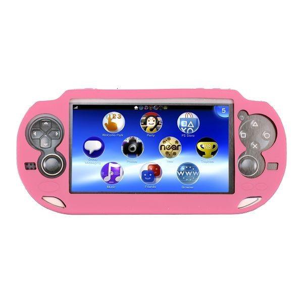 Soft Shell (Vaaleanpunainen) Sony PlayStation Vita Silikonisuojus
