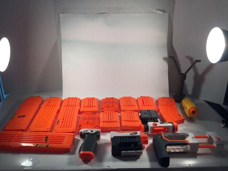 Nerf Gun Accessories 20 Piece Lot 18 Max Clip N Strike Nerf Scope | eBay
