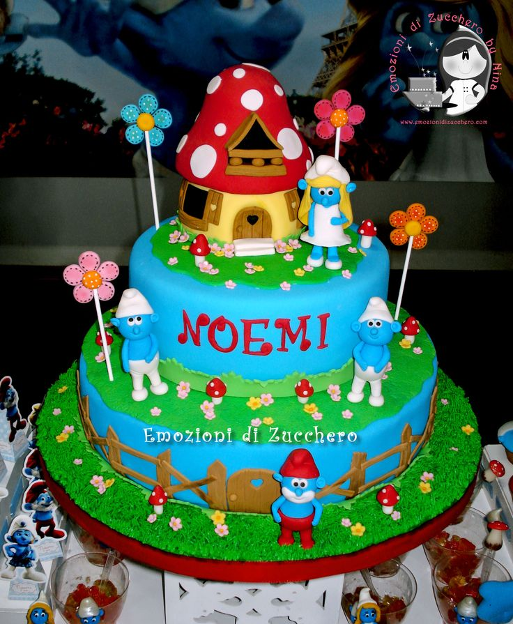 The 136 Best Smurfs Birthday Party Images On Pinterest The Smurfs