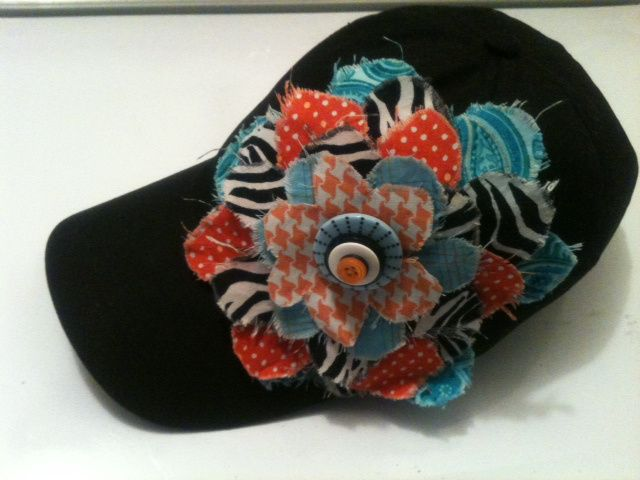 Dress up a hat with this stylish easy to do fabric flower!