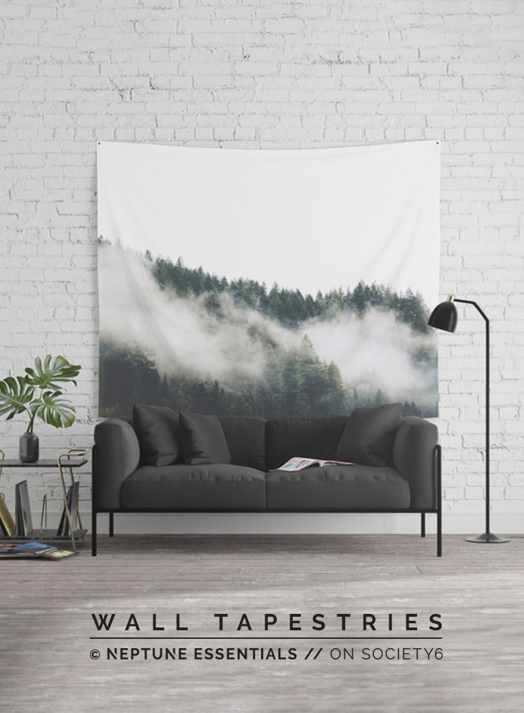 Into The Wilderness Wall Tapestry    Available in three distinct sizes, our Wall Tapestries are made of 100% lightweight polyester with hand-sewn finished edges. Featuring vivid colors and crisp lines, these highly unique and versatile tapestries are durable enough for both indoor and outdoor use. Machine washable for outdoor enthusiasts, with cold water on gentle cycle using mild detergent - tumble dry with low heat.