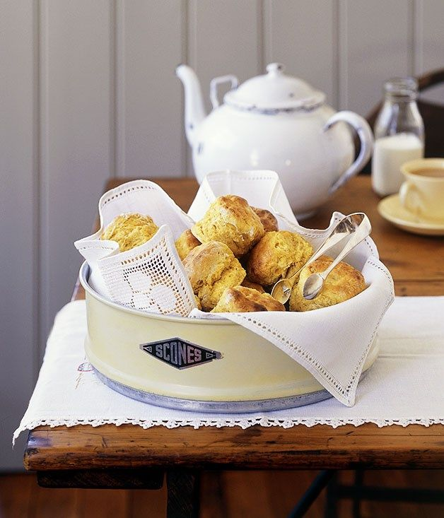 Australian Gourmet Traveller fast recipe for pumpkin and cinnamon scones