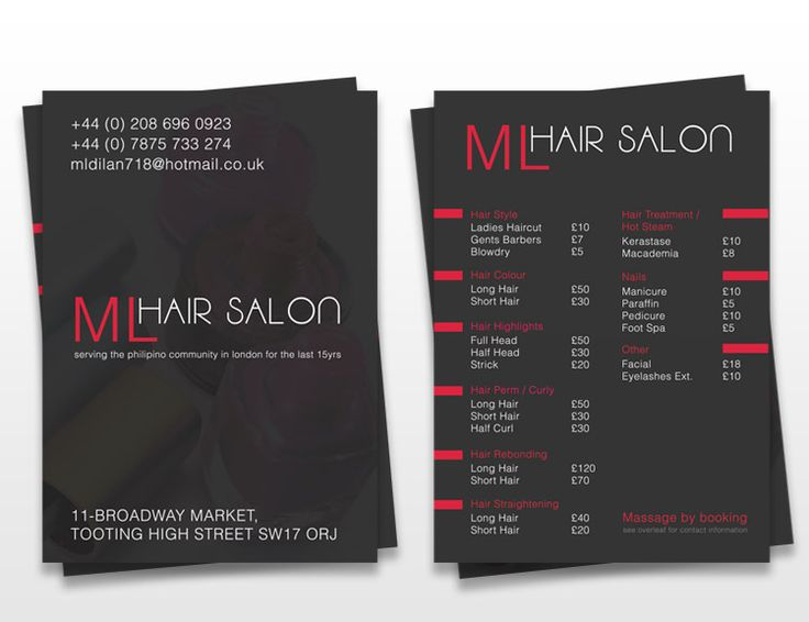 Best Flyer Images On   Flyers Salon Business And