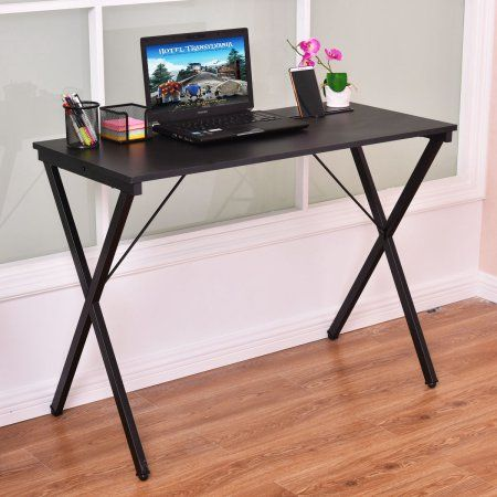 Free Shipping. Buy Costway Computer Desk Wood Metal PC Laptop Table Writing Study Workstation Home Office at Walmart.com  39.4''L x18.9''W x 29.3''H