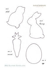 Easter templates. Kids craft or sewing