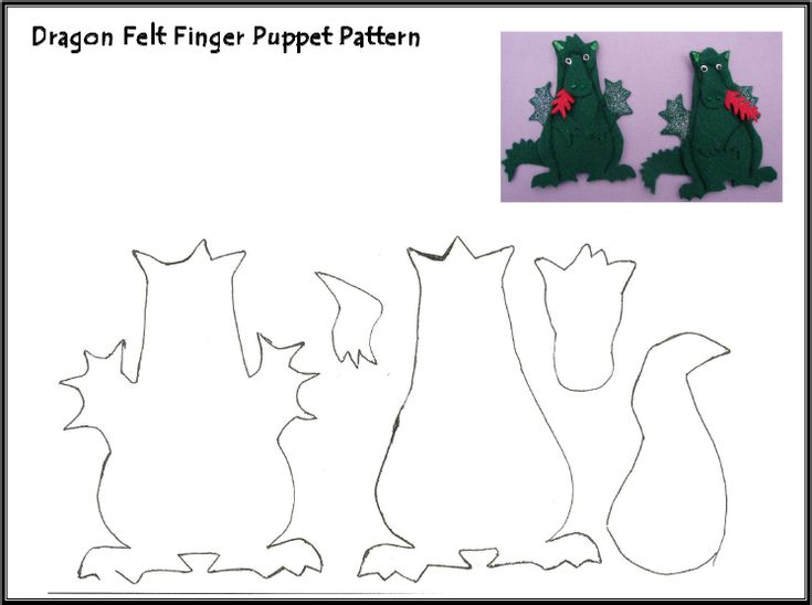 845 best finger pup images on pinterest felt puppets and homemade dragon finger puppet pattern pronofoot35fo Images