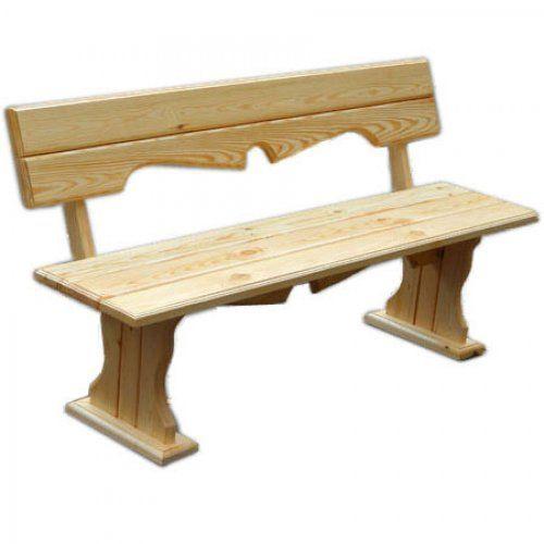 Скамейка МФДМ Уют (лак) Скамья деревянная с фигурной спинкой