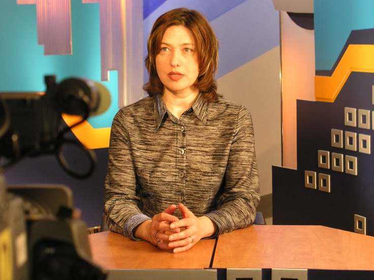 A television news host in Russia.
