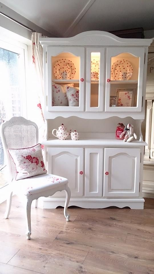 Shabby Chic - vajillero - cristalero - china hutch