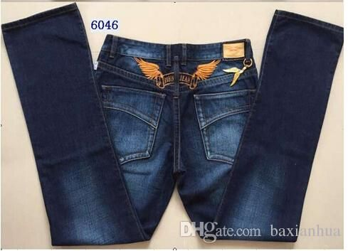 Wholesale-2016 New Arrival Hot Mens Designer Jeans Men Robin Jeans Famous Brand Denim with Wings American Flag Jeans Plus Size30-42 Online with $77.19/Piece on Baxianhua's Store | DHgate.com