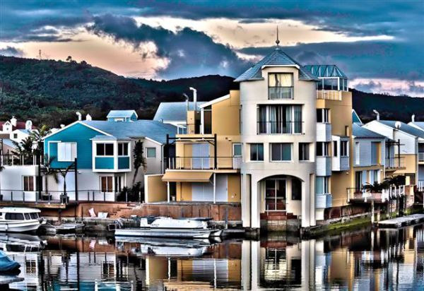 Knysna - South Africa.  Adam and i actually lived in this apartment complex for 6 weeks.