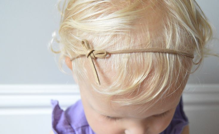 Gold leather headband, on soft nylon