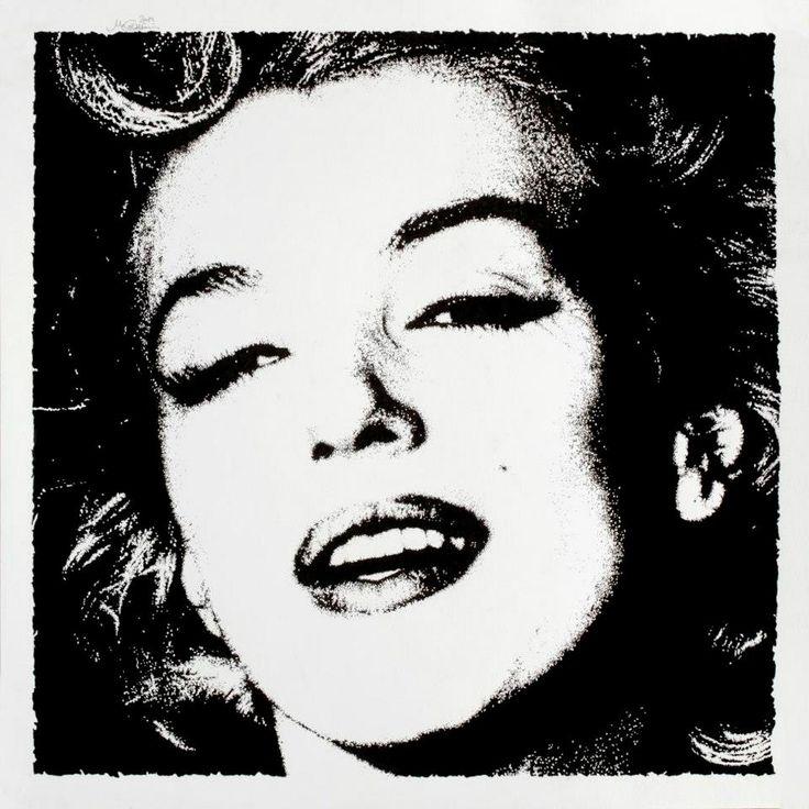 """Marilyn, due gocce di Chanel N°5"" - 2012/08 Inchiostro di China su carta Fabriano ruvida 200 gr. #art #portrait #cinema #marilyn"