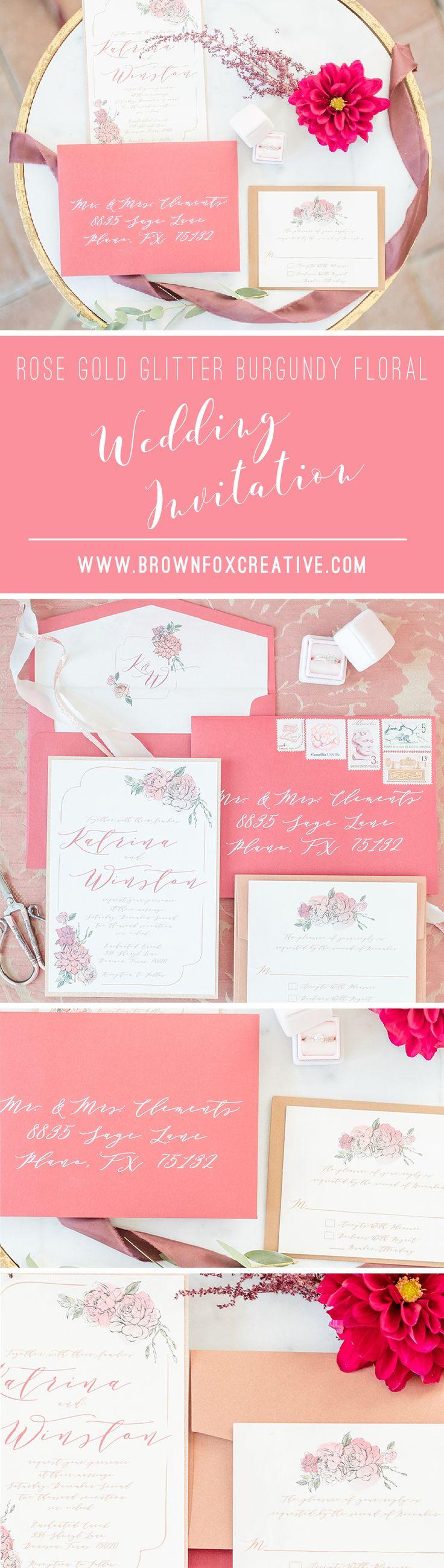 181 best wedding invitations images on pinterest