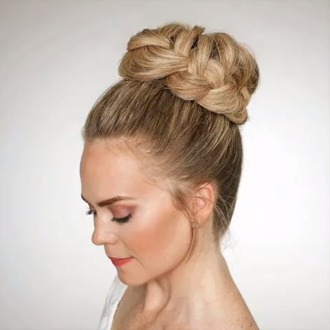 French Braid High Bun?