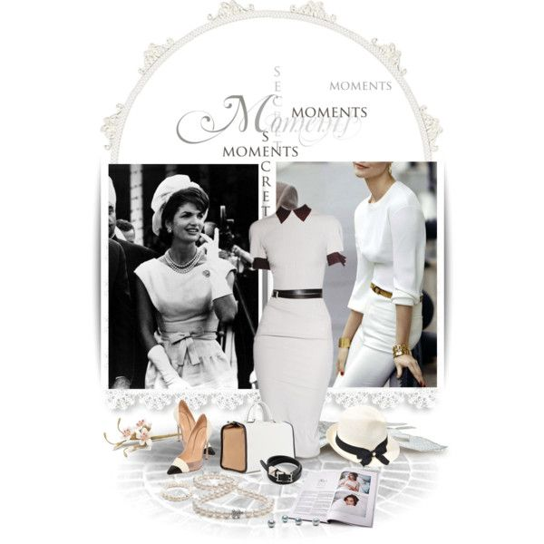 Mrs Kennedy by theroyalcrime on Polyvore featuring moda, Sergio Rossi, Anya Hindmarch, Tiffany & Co., Valentino, Thomas Sabo, Inverni, Victoria Beckham and vintage