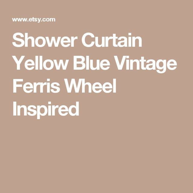 Shower Curtain Yellow Blue Vintage Ferris Wheel Inspired