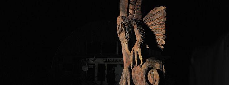 Haast's Eagle Wingspan carving