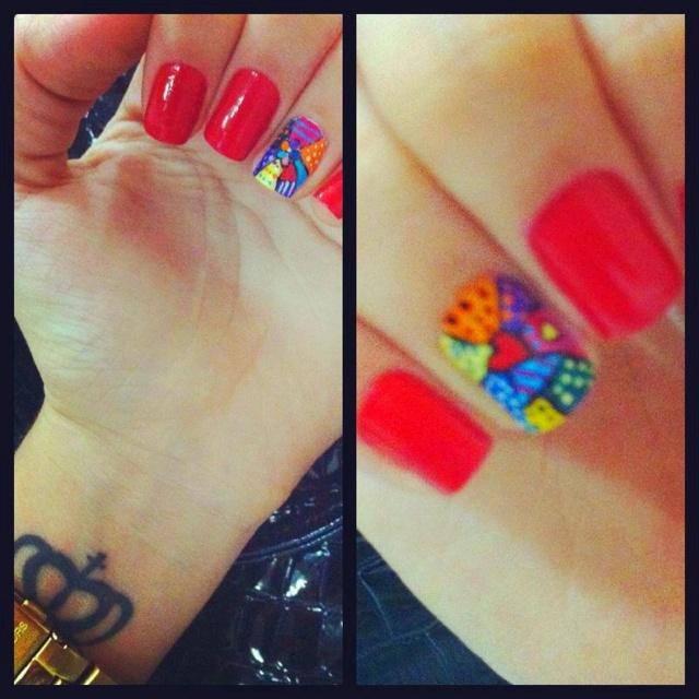 Romero de Brito inspired  Red nails
