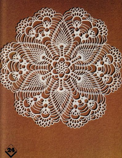 Magic Crochet nº 05 - Edivana - Picasa Web Albums / a sweet doily, photo only-no graph, but OH how i love those pineapples!