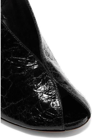 Isabel Marant - Meirid Cracked-leather Slingback Sandals - Black - FR37