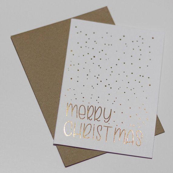 Skurrile Hand beschriftet und vereitelt Weihnachtskarte. Nachricht: Merry Christmas Hand beschriftet und vereitelt in Bournemouth, Großbritannien -Schwarze Tinte oder vereitelt -Wahl der Folie Farbe: Gold, Rose Gold, Silber oder Kupfer -A6 zusammengeklappt (105x148mm) -300gsm glatte