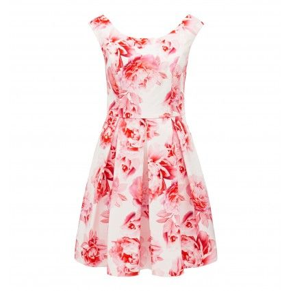 Alicia floral printed prom dress Main Image