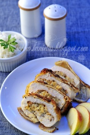 Haniela's: ~Chicken Breast Stuffed with Apple and Cheese~