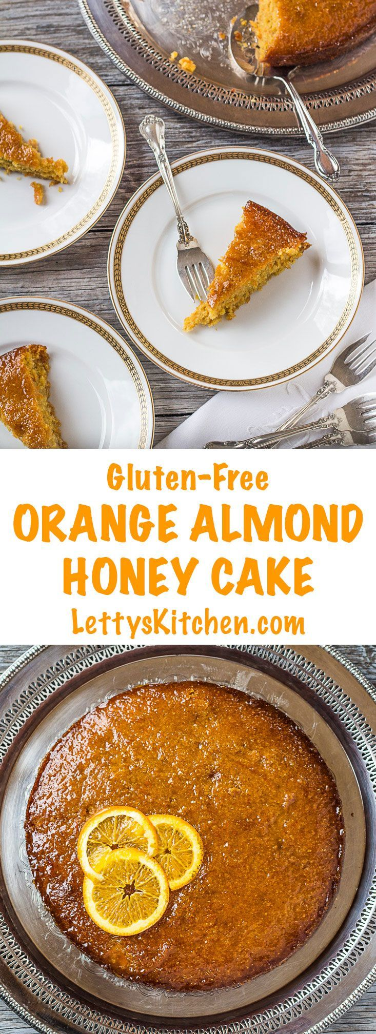 The honey orange glaze soaks into this gluten-free Orange Almond Honey ...