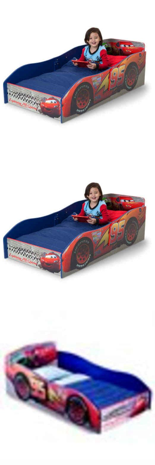 Bedroom Furniture 66742: Delta Disney Cars Wooden Toddler Bed -> BUY IT NOW  ONLY