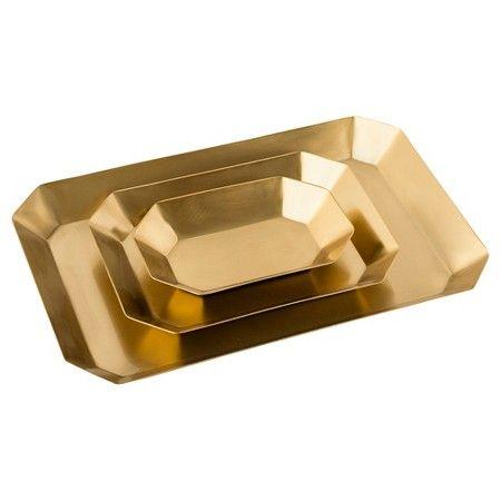 Sugar Paper® Desk Tray Set, 3ct - Gold : Target
