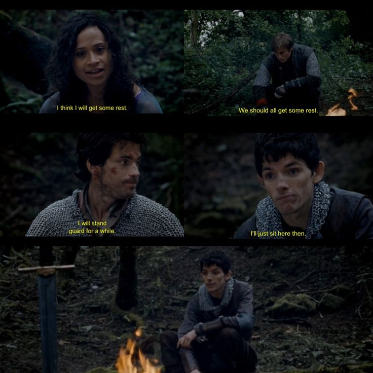 I love the face Merlin makes in the second to last frame. Aw :)