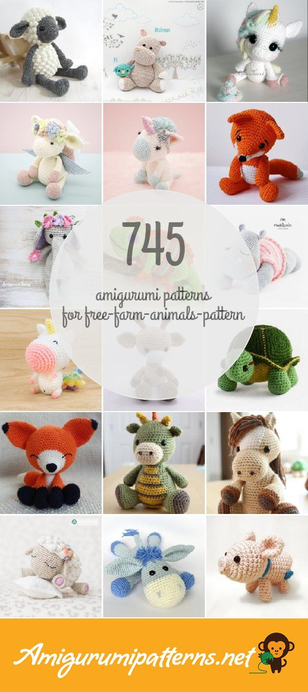 1000's of Free Amigurumi and Toy Crochet Patterns (535 free ... | 1345x600