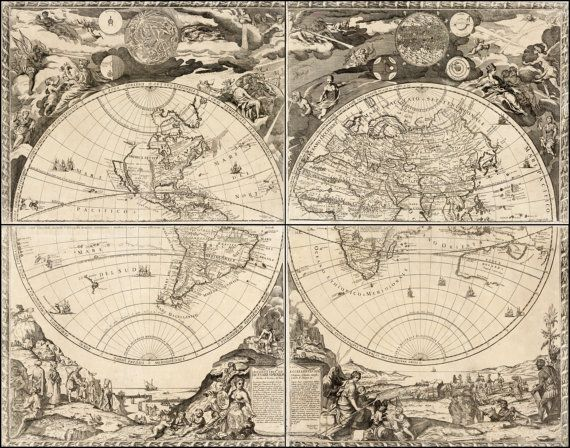 299 best map images on pinterest antique maps old maps and maps old maps world globe ancient map old world maps by mapsandposters gumiabroncs Gallery