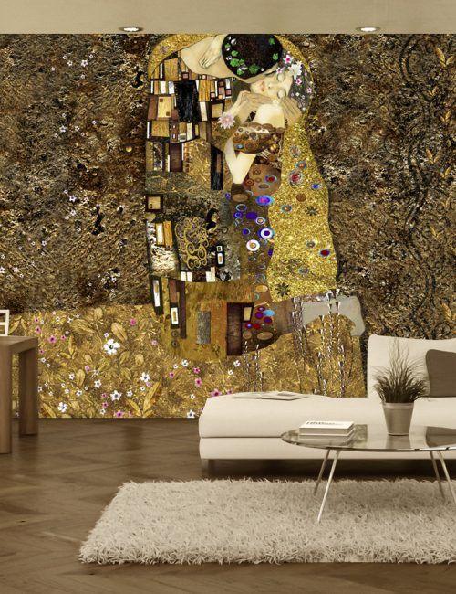 Carta da Parati Klimt Carta da Parati Fotomurale con Arte Astratta Moderna