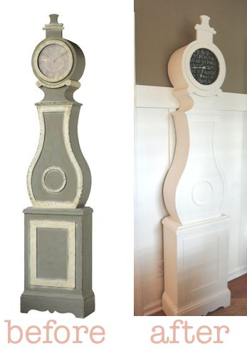 grandfather clock makeover: Swedish Clocks, Clocks Redo, Furniture Diy, Mora Clocks, Clocks Makeovers, Diy Whimsical, Grandfather Clocks