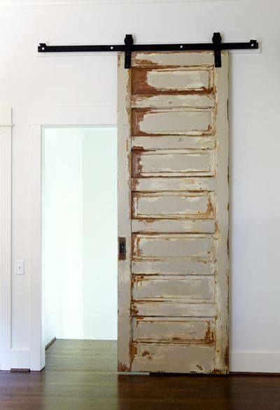 love these sliding doors on runners. I want one into every room of my house!