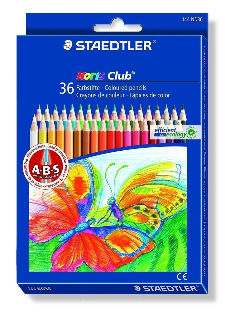 Staedtler Colored Pencils Set Of 36 Colors 144ND36 For Coloring Book