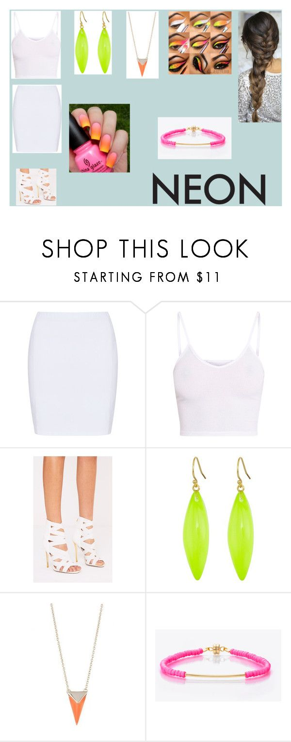 """""""#neonbeauty"""" by izzcampbell ❤ liked on Polyvore featuring beauty, Doris Streich, BasicGrey, Alexis Bittar, Minnie Grace, contest and neonbeauty"""