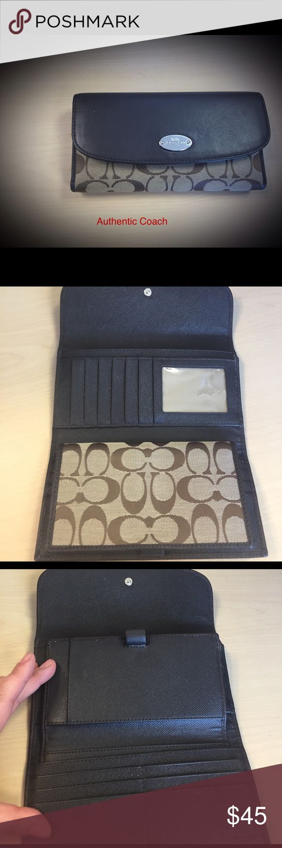 Authentic Coach Wallet Nice brown wallet with check holder. In great condition. coach  Bags Wallets