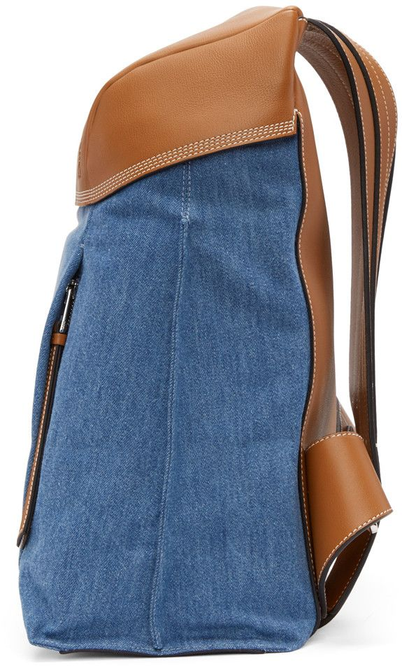 Loewe - Blue Denim Small T Backpack