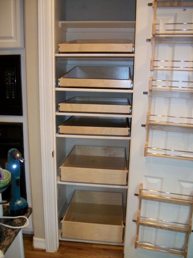 The 25 best closet pantry shelving ideas on pinterest for Pantry door shelving unit