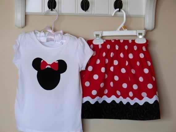 6c9e804268 Minnie Mouse Shirt and Skirt sizes 6 - 9