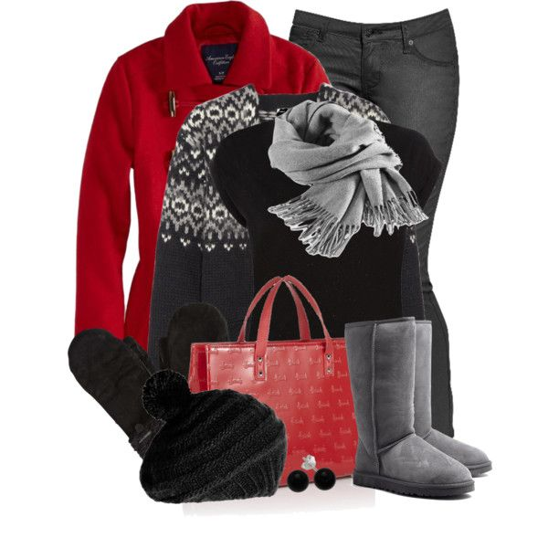 Winter Outfits - t-shirts, cardigans, coats, skinny jeans, boots, handbags, earrings, scarves, gloves, hats