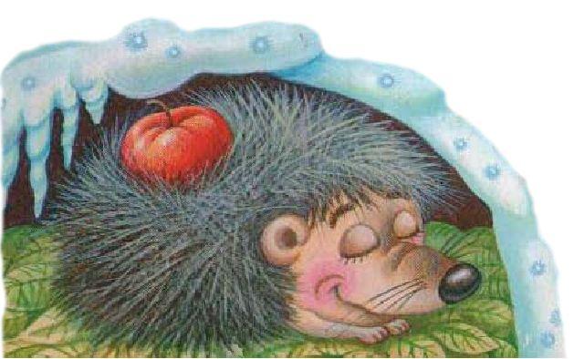 Картинка для детей ежик спит