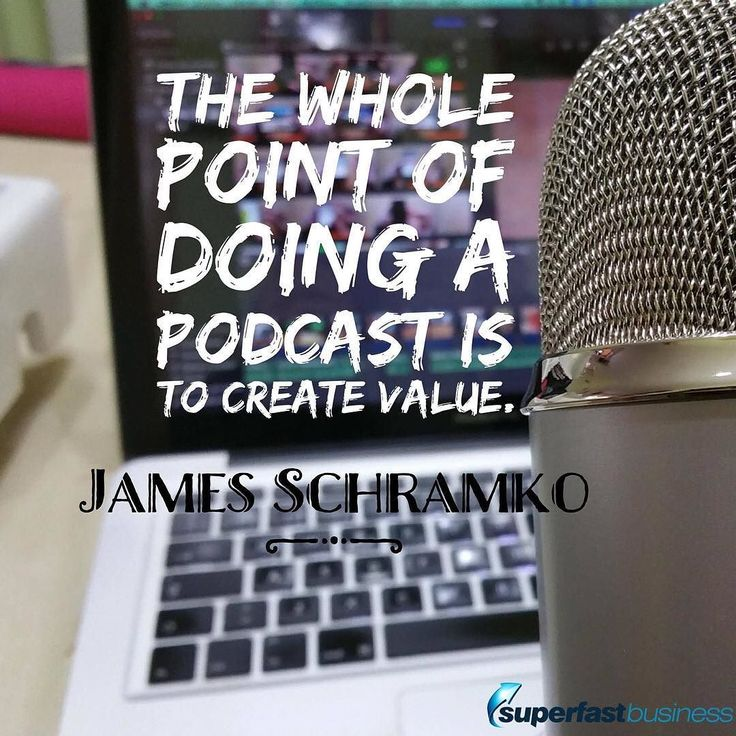 """As a podcaster you need to create value. You have a responsibility to your listener to deliver this value if you want to earn their ears for next time because theres so many choices they could make including doing nothing."" - James Schramko  Double tap if you agree.  #SuperFastBusinessPodcast #SuperFastBusiness http://www.superfastbusiness.com/"