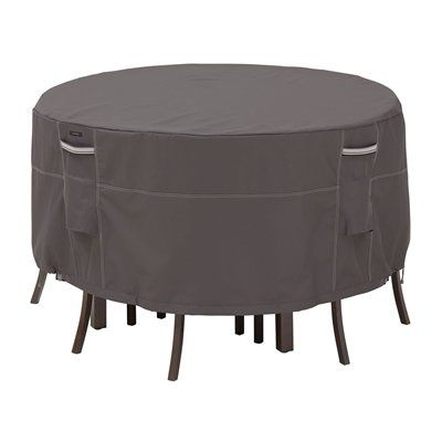 Classic Accessories 55-1 Ravenna Round Patio Table and Chair Set Cover