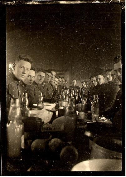 WWI, 1916, Christmas dinner at Seafort England. - canadianletters.ca