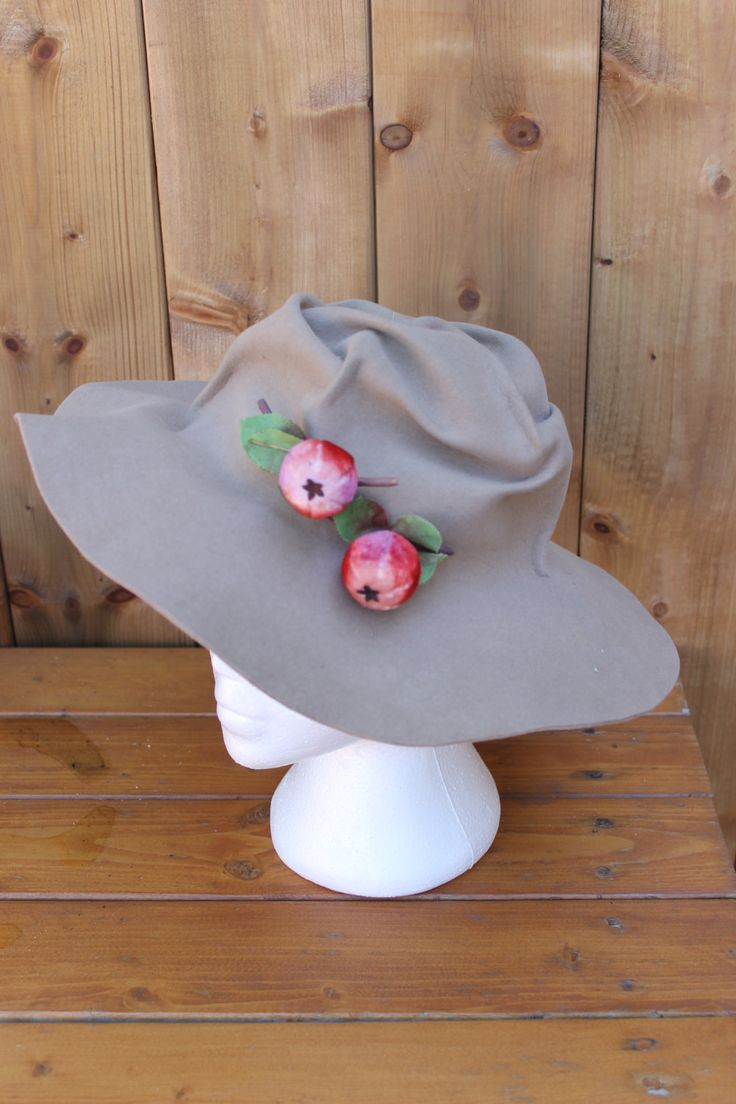 Vintage Ladies' One of a Kind Designer 1960s Slouch Hat Perfect Hippy Boho! by…