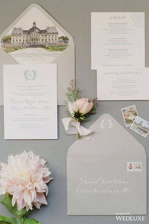 WedLuxe– A Dream-Like French Château Wedding | Photography By: Greg Finck Follow @WedLuxe for more wedding inspiration!
